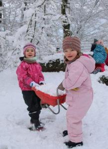 Letzter Wintertag im Kindergarten
