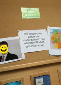 Kindergartenkinder werden über Corona-Virus informiert