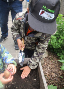 Hochbeet im Kindergarten