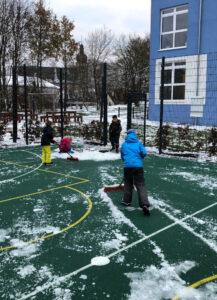 Schnee im Hortgarten